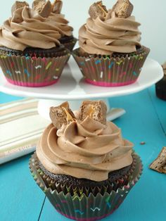 Chocolate Milky Way Cupcakes #shop