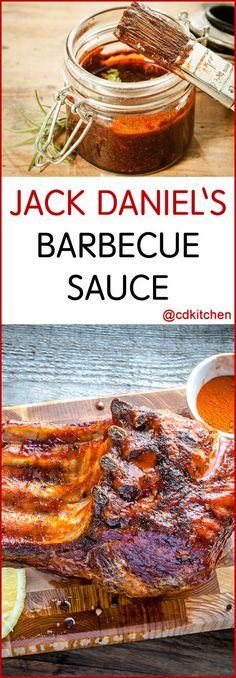 Jack Daniel's Barbecue Sauce - A splash of Jack steps up your bbq sauce game. The rich bourbon flavor works well with chicken, beef, or pork. Heck, you can use this anywhere you use barbecue sauce.  CDKitchen.com