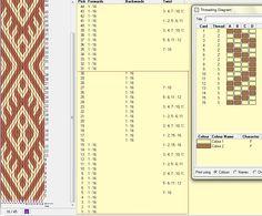 Diagonal. 16 tarjetas, 2 colores, el dibujo repite cada 30 movimientos   // diagonal_05 ༺❁