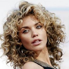 Celebrities with short curly hair styles