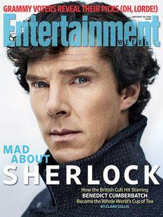 """Benedict Cumberbatch y el fenómeno de la serie """"Sherlock"""" en la portada de la revista Entertainment Weekly."""