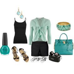 Black and Blue, created by pamela-barrett-williamson on Polyvore