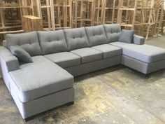 Double Chaise U Shape Sectional 1500 84 Inches By 144 Inches By 84