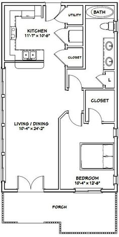 22x36 House    #22X36H1    792 Sq Ft   Excellent Floor Plans