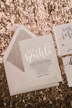 Rose Gold Foil Wedding Invitations, Digital and Foil Printing, Blush and Rose Gold, Jupiter and Juno
