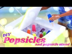 by request: Summer is right around the corner so lets get our dolls ready with these Fabulous DIY Popsicles and Popsicle Stand! This is a fun and EASY recycl. Barbie Dolls Diy, Barbie Food, Doll Food, Barbie Stuff, Doll Stuff, Myfroggystuff, Barbie Bedroom, Doll Crafts, Paper Crafts