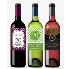 BIRTHDAY PARTY wine bottle labels