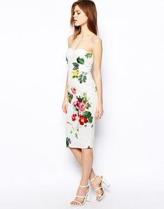 fd98bef30 Botanical Floral Bandeau Pencil Dress -  bandeau  Botanical  dress  Floral   Pencil