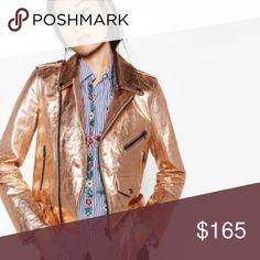 ❗️FINAL SALE❗️ZARA Rose Gold Moto Jacket NWT New with tags, perfect condition. A bit more pink/rose gold in person than the photos show. Chest: Length: Sleeves: All measurements are approximate. Moto Jacket, Leather Jacket, Metallic Jacket, Zara Jackets, Neckties, Fashion Design, Fashion Tips, Fashion Trends, Refashion