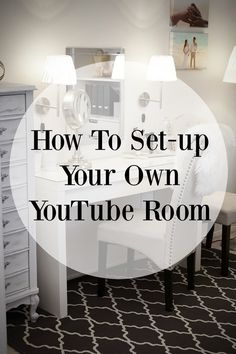Decor ideas and inspiration on how IKEA set-up a beautiful home office and YouTube room for filming as a beauty blogger