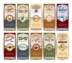 Food retro banners   Free Vector #Freepik #freevector #background #banner #food #business Olives, Vector Design, Web Design, Graphic Design, Banners, Tea Packaging, Information Graphics, Banner Vector, Background Banner