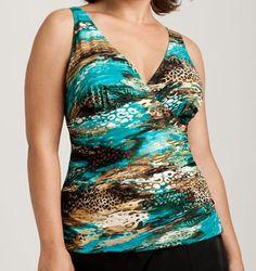 Wild At Heart Tankini Swimwear Top - Turquoise