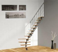 Un Escalier Courbe Dans Un Salon Escalier Gain De Place Amenagement Pinterest Escalier