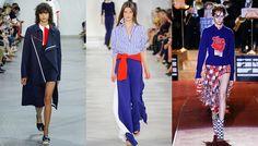 S/S 2016 women's trends: bleu blanc rouge sport