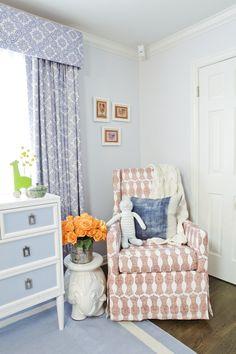 Molly Sims - Tranquil, soft-blue room with adorable kid-friendly decorations. Blue Nursery Girl, Baby Boy Nursery Themes, Nursery Ideas, Pastel Nursery, Nursery Decor, Celebrity Nurseries, Sophisticated Nursery, Outer Space Nursery, Molly Sims