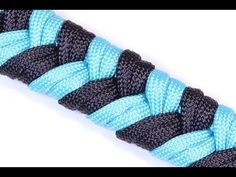 "▶ Make a ""4 Strand Fishtail"" Survival Paracord Bracelet - Bored Paracord - YouTube"