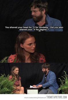 An uncomfortable question for Natalie Portman…