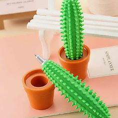 A prickly cactus pen. | 24 Next-Level Pens For Anyone Who Loves Office Supplies