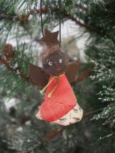 Black Angel Ornament Named Oh Lawdy  Angel ornaments Ornaments