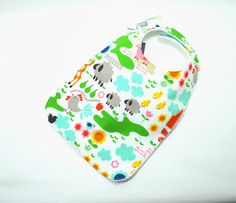 Toddler Bib 10x 17 / 1yr3 yrs /Farm Bib/ Animal by TextileTrolley, $12.00