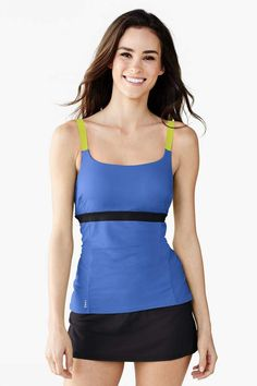 97c4cfbba271d Lands  End Lands end Women s Long AquaSport Scoop Tankini Swimsuit Top   Long