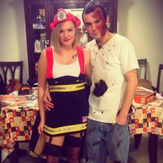 Firefighter & Burn Victim Couples Costume
