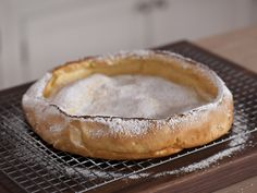 Vanilla Dutch Baby (Puffed Pancake) recipe from Melissa d'Arabian via Food Network