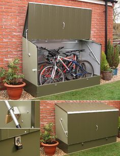 metalstore Secure Metal Bicycle Storage Unit - could keep bikes outdoors if start running out of space?