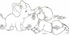 Baby Art Crafts, Arts And Crafts, Adult Coloring, Coloring Books, Line Drawing, Safari, Embroidery, Drawings, Illustration