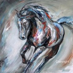 Abstract Horse Painting- Original Oil on Stretched Canvas-'Equine Elation III' Abstract Horse Painting, Love Painting, Abstract Canvas, Oil On Canvas, Oil Pastel Paintings, Original Paintings, Horse Paintings, Buffalo Painting, Horse Drawings