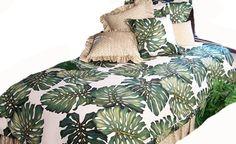 Premier-Polsterstoff tropischen Grün Leaf von HawaiianFabricNBYond