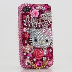 3d swarovski pink hello kitty crystal bling case cover for iphone 4 4s att verizon sprint picture 1 # 3D Swarovski Pink Hello Kitty Crystal Bling Case Cover for iphone 4 / 4S AT Verizon & Sprint On Sale