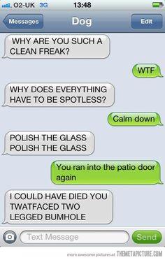 Polish the glass