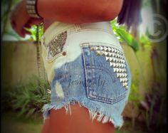 diy high waisted jean shorts - Google Search