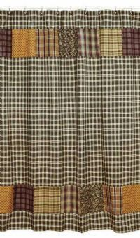 Country Shower Curtains - Appleseed Primitives-Primitive and Rustic Country Home Decor. Victorian Heart Quilts, Handbags, and Gifts.