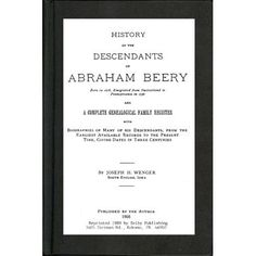 History of the Descendants of Abraham Beery