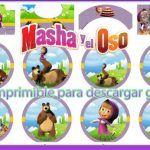 Decoración de Masha y El Oso Kit para imprimir gratis