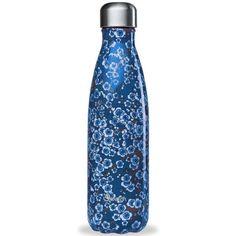 Thermosflasche Flowers Qwetch 500ml blau Water Bottle, Mugs, Drinks, Food Storage, Cold Drinks, Green Tee, Tablewares, Flasks, Blue