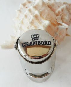 Chambord Liqueur Bottle Stopper Stainless Steel Logo Collectable Breweriana