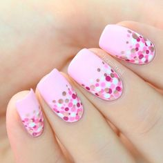 polka-dots-nails-short-squoval-light-pink Top 50 Best Business Casual Nails 2018 Nail Art Business Casual Nails