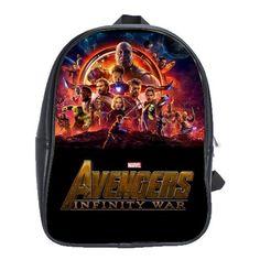 97391546f1edb0 AVENGERS INFINITY WAR 100 GENUINE LEATHER XL SCHOOL BACKPACK $29.99 Avengers  Infinity War, School Backpacks