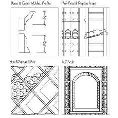wine bar construction drawing - بحث Google
