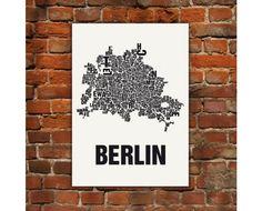 Berlin Typografie Siebdruck