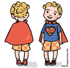 Inspired by a little boy I spotted at the park, here is super boy.