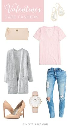 Valentine's Date Fashion - Outfit for Valentine's Day - Pink Outfit, Blush Outfit, Cozy Outfit