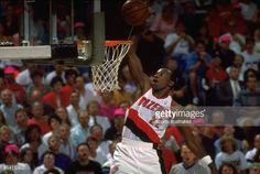 Fotografia de notícias : NBA finals, Portland Trail Blazers Clyde Drexler...