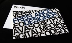62 Cool Examples Of Big Typography In Business Card Design--great for other print work too