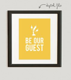 DIGITAL FILE // Be Our Guest Disney Lumiere by PeppermintPaperie
