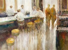 """Dan McCaw, """"The Waiters After the Shift"""" - Morris & Whiteside Galleries"""