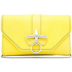 GIVENCHY Obsedia Clutch in Yellow .. forwardforward.com